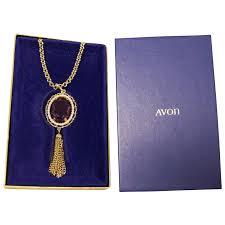 vintage avon purple tassel pendant