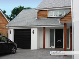 houses with black garage doors for elegant house style