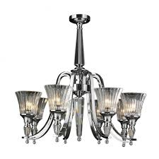 innsbruck collection 8 light chrome finish and clear crystal candle chandelier 30 d x 29