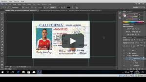 Driver License Template Psd Vimeo On California Customizable