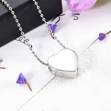 custom en blank floating heart cremation urn pendant memorial urn necklace cremation jewelry for human pet ashes