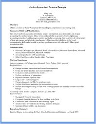 Junior Accountant Resume Sample Accountant Resume Sample Resume