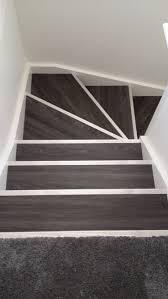 allure locking gen 3 aspen oak black with silver fluted stair nosing