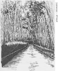 京都 嵐山 嵯峨野 竹林のイラスト素材 Pixta