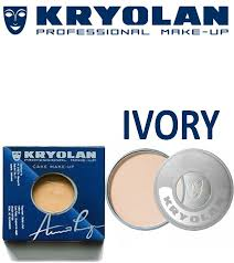 details of kryolan dry cake makeup foundation ivory 100 genuine