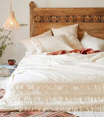 white duvet cover fringed cotton tassel duvet cover quilt cover full queen 86inx90in