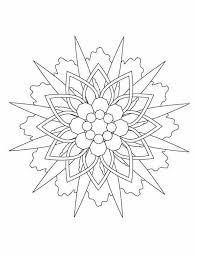 Kleurennu Sterren Mandala Kleurplaten