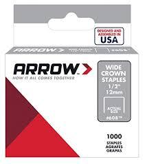 Arrow Staple Size Chart Arrow Fastener 608 Wide Crown Swingline Style Heavy Duty 1 2 Inch Staples 1000 Pack