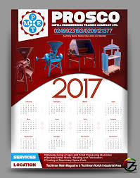 Prosco Ghana Limited 2017 Calendar Design By 7graffix 7graffix