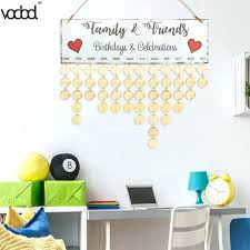 wooden wall calendar board family friends birthday date reminder hanging sign special dates planner home decor