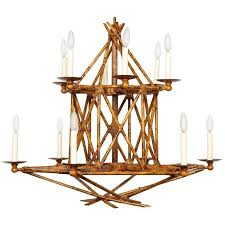 a new twelve light faux bamboo chandelier