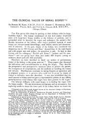 the clinical value of renal biopsy † of internal medicine  the clinical value of renal biopsy † of internal medicine american college of physicians