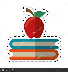 Symbole De Dessin Anim Apple Livre Scolaire Image Vectorielle