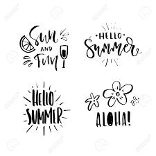 夏休み旅行代理店夏のパーティー手レタリングとベクトル イラスト海辺での休暇ポストカードマグ