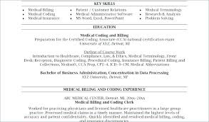 Medical Billing And Coding Resume Sample Sample Medical Coding ...