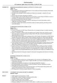 Business Continuity Consultant Resume Samples Velvet Jobs