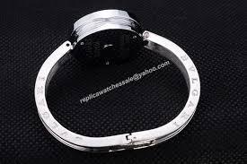 Diamond B Bvlgari Bangle Watch Bezel zero1 2-herts Replica Rosegold