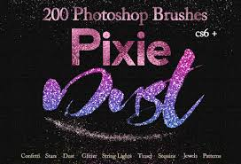 Confetti Brush Photoshop Hd Glitter Photoshop Brushes Textures Design Kit On Behance