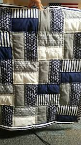 Nautical baby quilt I just finished for a friend. Easy pattern ... & Easy free nautical baby crib quilt pattern in blue grey and white fabric.  Perfect for a baby boy nautical nursery room. Adamdwight.com