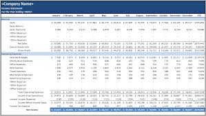 Excel Income Statement Template Business