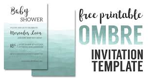 Diy Invitation Template Ombre Invitation Templates Free Printable Paper Trail Design