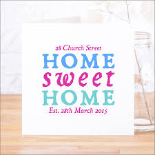 Personalised Home Sweet Home New Home Card