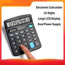 Elektronik hesap makinesi standart fonksiyon temel sayacı 12 haneli büyük  LCD ekran büyük düğmeler çift güçler güneş piller|Calculators