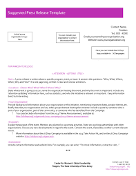 Templates For Press Releases 46 Press Release Format Templates Examples Samples