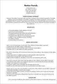 Resume Templates: Supervisor