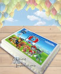 Paw Patrol All Dogs Edible Image Sheet Cake Topper
