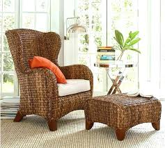 Rattan Wingback Chair Pottery Barn Wing   T64