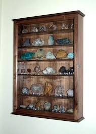rock collection display case mineral rock geode display case wall cabinet by on rock collection display case