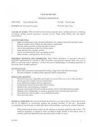 Billing Clerk Job Description For Resume Templatesical Billing Clerk Sample Job Description For Resume 4