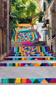 Painted Stairs 17 Beautifully Painted Stairs From All Over The World