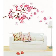 large cherry blossom flower wall art decal vinyl sticker removable diy wall decals canada wall decals from kaiyue608 8 44 dhgate com