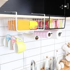 hanging closet shelf basket cabinet storage rack holder kitchen organizer