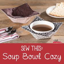 Bowl Cozy Pattern Impressive Sew This Soup Bowl Cozy Free Pattern Craft Warehouse
