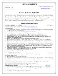 Hotel Resume Samples Resume Peppapp