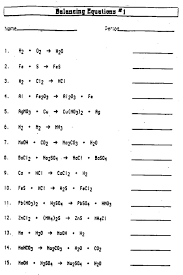 worksheets for all and share free on balance chemical equations