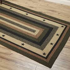 area rugs wonderful country style braided jute star black with regard to prepare western farmhouse round