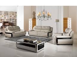 Modern Italian Living Room Furniture American Eagle Ek B115 Lg Modern 3pcs Light Gray Leather Sofa Set