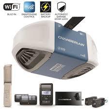 chamberlain 1 25 hp security bundle belt drive garage door opener with built in wifi and