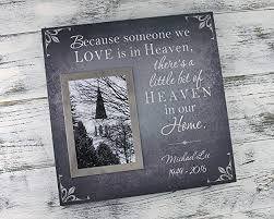 bereavement gift ideas sympathy gift personalized memorial gift photo frame sympathy gift bereavement picture frame because someone we love is in