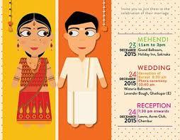Cartoon Style Indian Wedding E Invite Perkawinan India In 2019