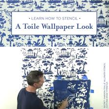 Small Picture Learn How To Stencil A Toile Wallpaper Look Stencil Stories