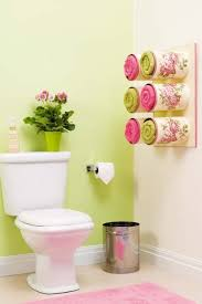 diy towel storage. Bathroom Storage Hack: Six Wall-mounted And Decorated Tin Cans Storing Towels DIY Enthusiasts Diy Towel