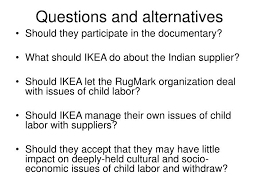 questions and alternatives