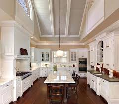 dramatic vaulted ceiling in kitchen traditional lighting ideas