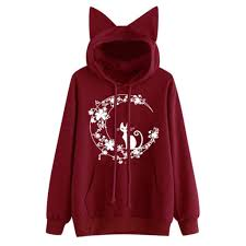 Hipster Female Streetwear Cat Ear Hoodies Sweatshirt Women ...