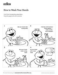 Childrens handwashing, virus protection vector concept. Step By Step Handwashing With Elmo Kids Pbs Kids For Parents